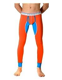 Men's Fashion Midweight Wicking Thermal Bottom Pant Leggings Long Johns