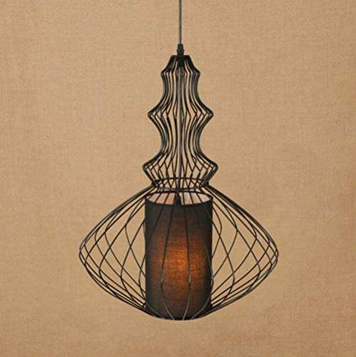 Liinmall Modern Pendant Light Down Light Painted Finishes Metal Fabric Anti-Glare Mini Style Bulb Included 110-120 ()