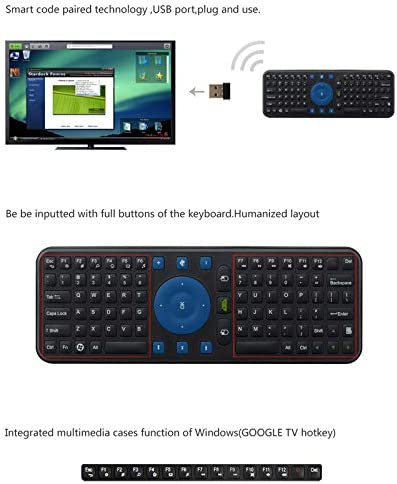 Hsifeng Hsifeng RC7 2.4G USB Wireless Keyboard Gyroscope Air Fly Mouse for Mini PC Android TV Box Black