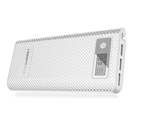 LQQBSTORAGE Portable charger 12000mAh Power Bank External Battery Packs(Input 5V/2A 3-Outputs 5.5A) for iPhone& iPad& Samsung Galaxy& More(White)