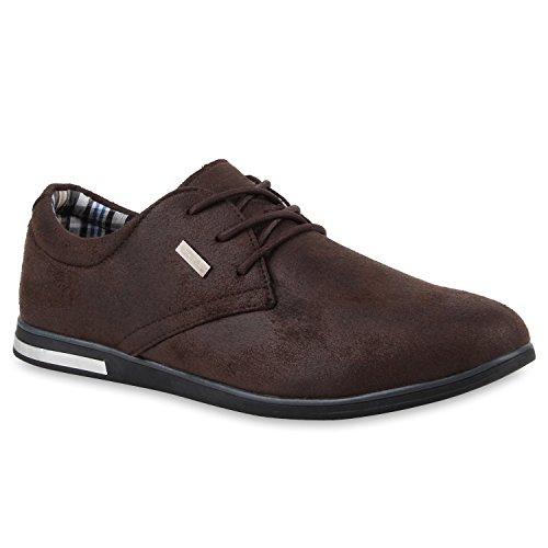 Bottes Schnurer Brun Imprime Classique Hommes D'affaires Pour Chaussures Fonc Paradis rwYxTA8fr