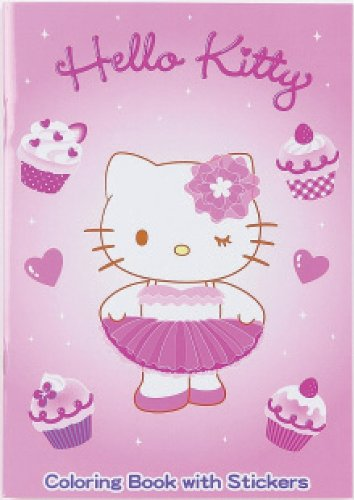 Hello Kitty Pink Tutu - Coloring Book with Stickers