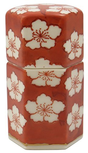 Red Flower Kiyomizu Yaki Porcelain 1.6inch Toothpick holder by Watou.asia