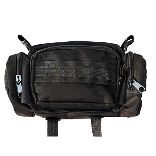 UMFun Bike Bicycle Sports Handlebar Bag Waist Bag Shoulder Bag Holder Pouch (black)