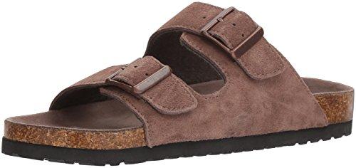 Suede Mocha Footwear (Dr. Scholl's Shoes Men's Fin Slide Sandal, Mocha Suede, 12 M US)