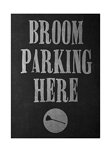 Broom Parking Here Print Broomstick Picture Fun Scary