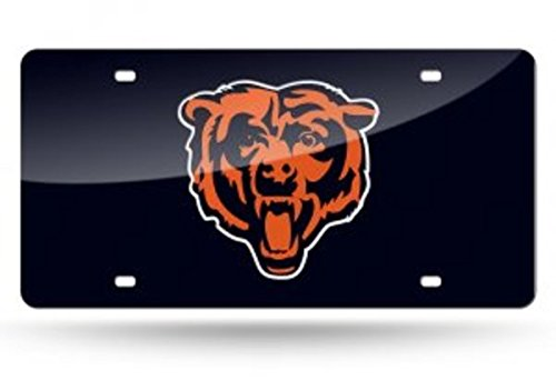 Rico Industries Chicago Bears License Plate (Chicago Bears License Laser Plate)