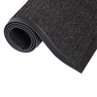Crown SSR023CH Super-Soaker Wiper Mat with Gripper Bottom, 0.38'' Thickness, 24'' Width, 36'' Length, Polypropylene, Charcoal
