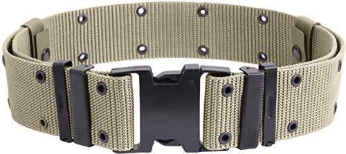 Pistol Belt Military Nylon Tactical Web Utility Duty ALICE Marine Corps GI Type Medium Size Men's Accessories (Khaki, Medium) ()