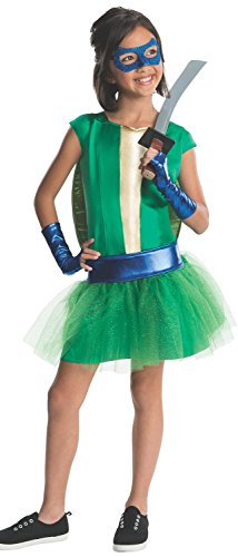 Girls Teenage Mutant Ninja Turtles Deluxe Leonardo Tutu Dress (Small 3-4 years) Katana Ninja Turtle Weapon