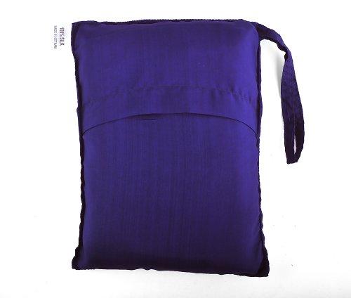 Purple Blue 100% Pure Mulberry Silk Single Sleeping Bag Liner Travel Sheet Sleepsack 83x33