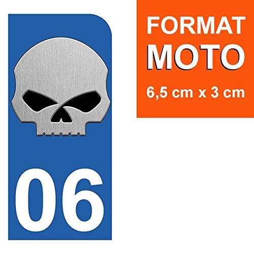 Stickers Garanti 5 Ans 06 Skull HD THELITTLESTICKER 1 Sticker pour Plaque dimmatriculation Moto Nos Stickers sont recouvert dun pelliculage de Protection sp/écifique