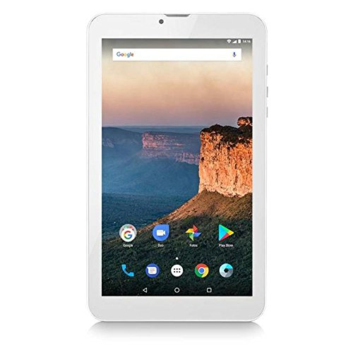 "Tablet M9 3G Dual Chip, Multilaser, NB284, 8 GB, 7"", Prata"