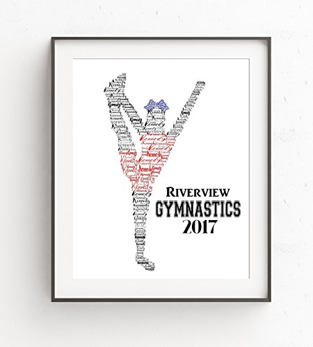 Personalized Gymnastics Gifts for Girls, Gymnasts Gifts, Custom Print 8x10 or 11x14 - Design Chipboard Picture Frame