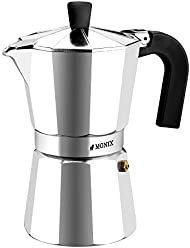 Monix Vitro Express 6-cup Moko Pot Coffee Maker - Stovetop Espresso Maker Moka Pot