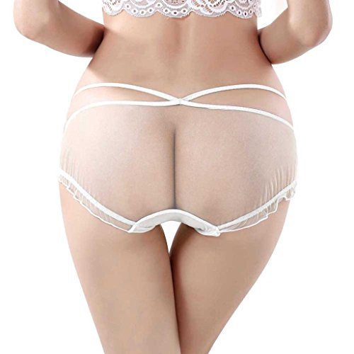 b2b28a2a1bb0 Binmer(TM)Women Two Piece See-through Panties Briefs Bikini Lingerie  Underwear (White) - Buy Online in Jordan. | Apparel products in Jordan -  See Prices, ...