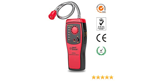JIANYI Natural Gas Detector High Sensitivity Propane Methane Combustible Gas Leak Detector Alarm with Sound Light Warning, Portable Gas Sniffer Monitor ...