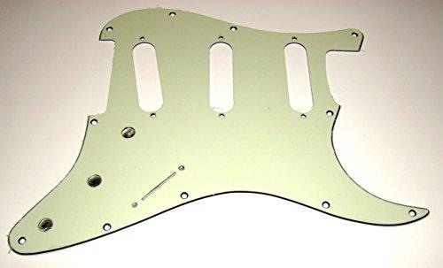 Bridge Pickup Mint - Fender Strat Pickguard, Hendrix Voodoo Style, 3 Ply Mint Green, for 3 Single Coil Pickups
