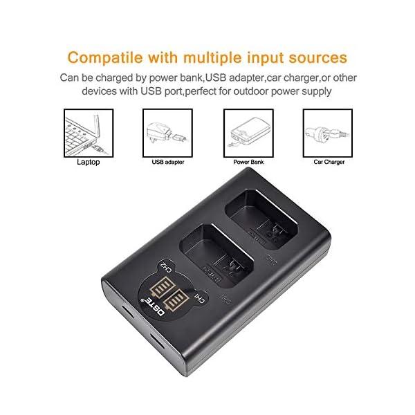 DSTE 2x NP-FW50 Ricambio Batteria + Caricatore doppio USB con display LCD Compatibile per Sony Alpha 7,a7,Alpha 7R,a7R,Alpha 7R II,Alpha a3000,a6000,NEX-7,Cyber-shot DSC-RX10 Digital Fotocamera 4 spesavip