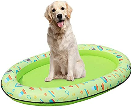 Amazon Com Ginkago Inflatable Pool Floats For Dogs Pet Swimming Pool Floating Row Bed Paddle Paws Floaties Doggy Puppy Pool Float For Summer Green Sports Outdoors