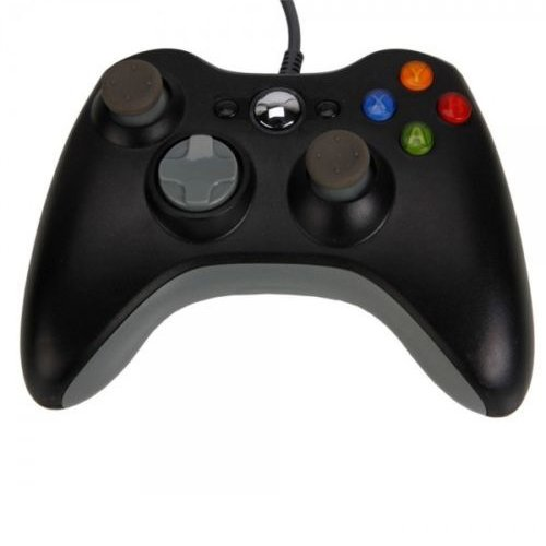 OSTENT Wired Controller Gamepad Compatible for Microsoft Xbox 360 Console PC Computer Video Game Color Black