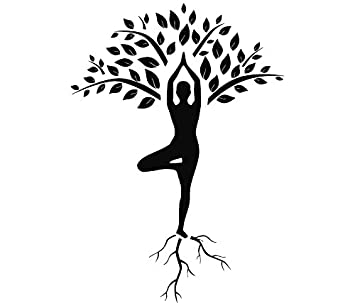 Tree Wall Decals Art Gymnast Decal Yoga Stickers Decal Gym Home Decor Art MN928
