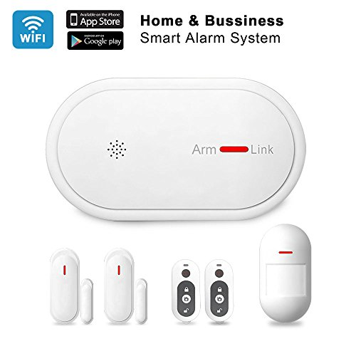 ESLIBAI Home Alarm System,433MHz 2G GSM&2.4Ghz Wireless Bussiness Home Security System DIY Kit Auto-dialer,APP Remote Control,No Monthly Fee,Expandable 32 Sensors Home Office by Eslibai