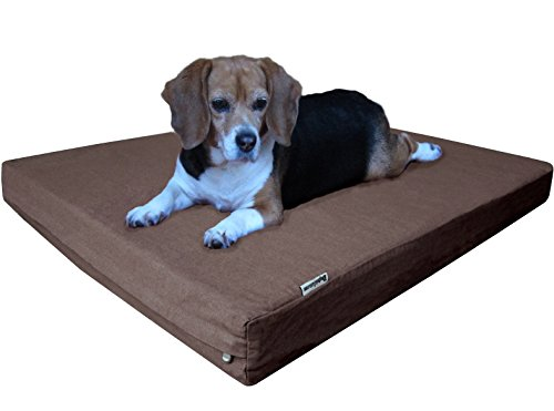 Dogbed4less Orthopedic Memory Foam Dog Bed with Washable Dur