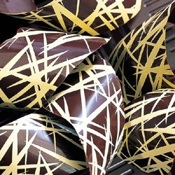 Bakers EZ way Chocolate Transfer Sheet: Abstract Design Gold. 2 Sheets