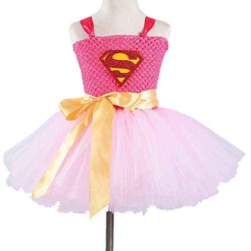 Wonder Woman Costumes Child Cosplay Children's Clothes Superman Game Anime Dress Party Party Cospaly Costume,Pink,S]()