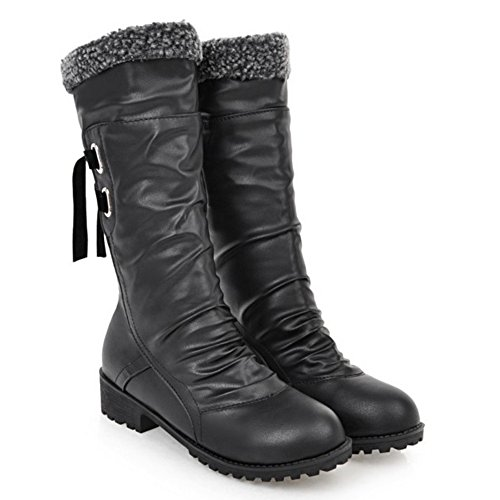 H Warm Women COOLCEPT On Pull Boots Lined Black Z6Ww0qR