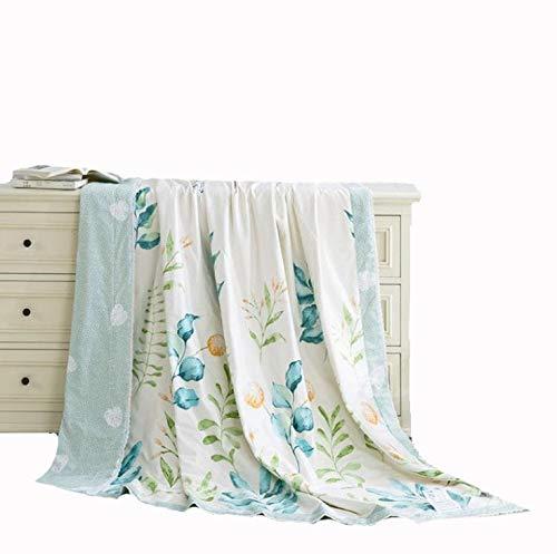 春と夏の涼しい気持ち、洗濯機で洗える綿のシルクの夏の涼しいキルト、裸の睡眠印刷シングルダブルエアコンだったホームギフト (Design : 4, Size : S) B07PVH1TVB
