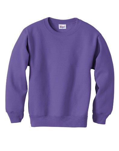 Hanes Youth ComfortBlend® EcoSmart® Crewneck Sweatshirt Purple M