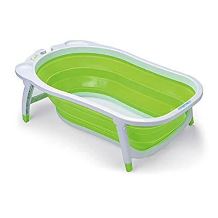 Vasca Bimbi Per Doccia.Foppapedretti Soffietto Vaschetta Bagnetto Per Bimbo Utilizzabile Dalla Nascita Fino A 15 Kg Verde