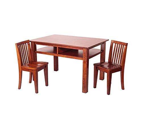 (Premium Newton Table and Chair Set, Mahogany)
