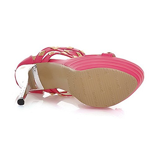 Adee Womens Studded Zip Polyurethane Sandals RoseRed bQFls