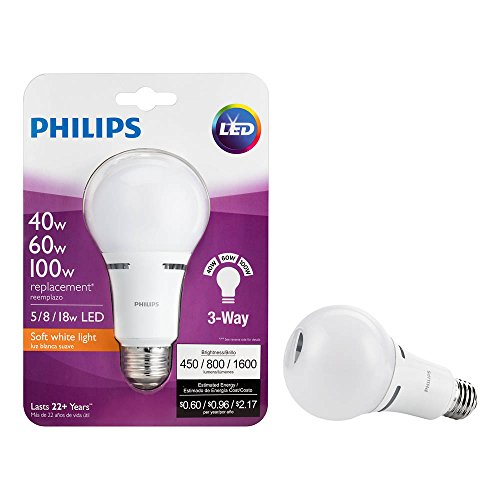 Philips 459156 40 60 100w Equivalent 3 Way A21 Led Light
