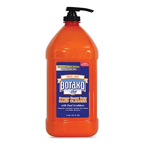(Boraxo 06058CT Orange Heavy Duty Hand Cleaner, 3 Liter Pump Bottle (Case of 4))