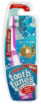 "Turbo Tooth Tunes Battery Powered Toothbrush, CG""Shake a Tail Feather"""