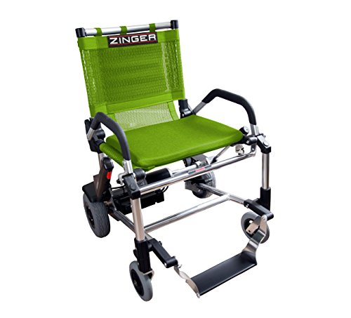 ZingerChair, Ultra-Portable Motorized Mobility Chair, Lightweight, Folding Electric Mobility Chair, Airline Travel Compatible, Green ()