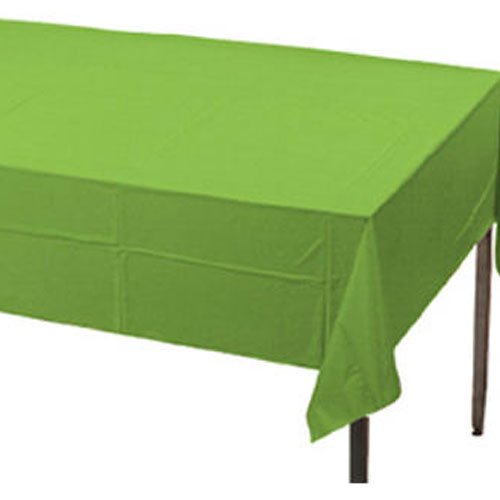 Creative Converting Plastic Banquet Table Cover, Fresh Lime