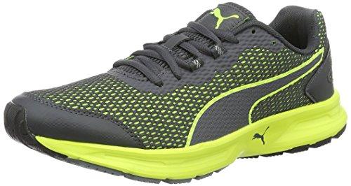 Puma Descendant V4, Sneaker Uomo Grigio (Asphalt-safety Yellow 08)