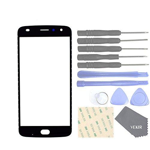 VEKIR Cell Phones Replacement Parts for Motorola Moto Z2 Play XT1710-01 XT1710-07 XT1710-10 XT1710-08 Outer Glass Screen Panel[NO LCD,NO Touch](Black) -  VK897
