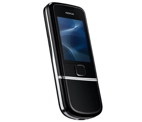 Unlocked Nokia 8800 Metal Sliding cover mobile phone Spare Old man mobile phone (Black)