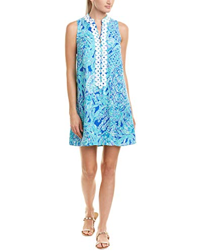 Shift Lilly Pulitzer (Lilly Pulitzer Women's Jane Shift Capri Teal Pop Up Tortuga Time Dress)