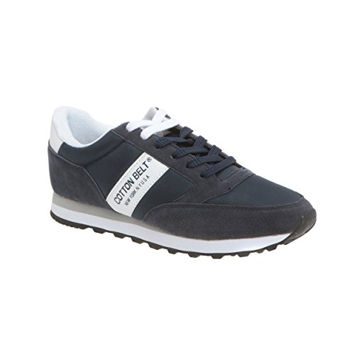 Cotton Sneakers da Bianco Belt Navy Uomo ZrES5Zqw