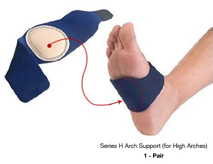 Arch Support Series H for High Arches, Best Cushioned Pain Relief for Plantar Fasciitis, Pain in Arch of Foot, Heel Spurs, Flat Feet, Foot Pain & Heel Pain, Supportive Comfortable Adjustable Snug Fit