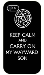 iPhone 5 / 5s Keep Calm and carry on my wayward son - black plastic case / Keep Calm, Motivation and Inspiration