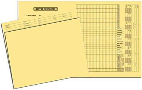 10 x 11 1//2 EGP Vehicle Service File Folder 100 Folders 100 Folders