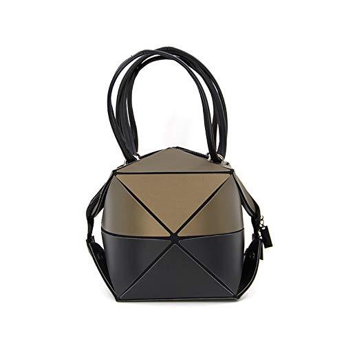 - Top-handle Handbags for Women Girls Geometric Changeable shape Deformable Satchel Shoulder Bags Cut Small Mini Size